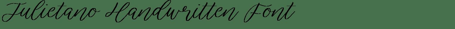 Julietano Handwritten Font