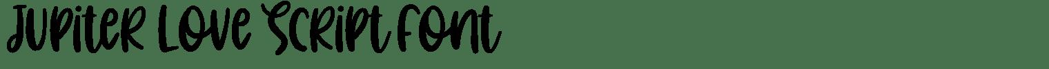 Jupiter Love Script Font