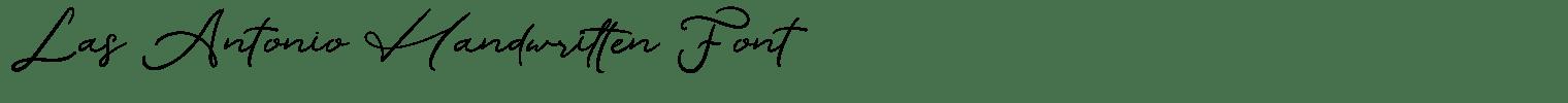 Las Antonio Handwritten Font