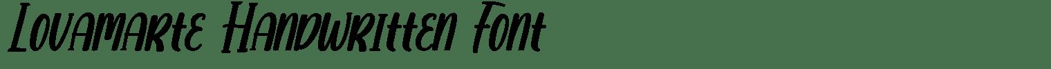Lovamarte Handwritten Font