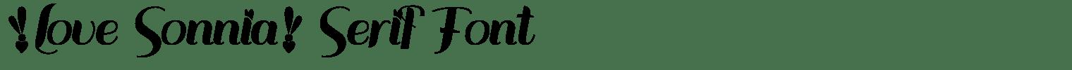 Love Sonnia Serif Font