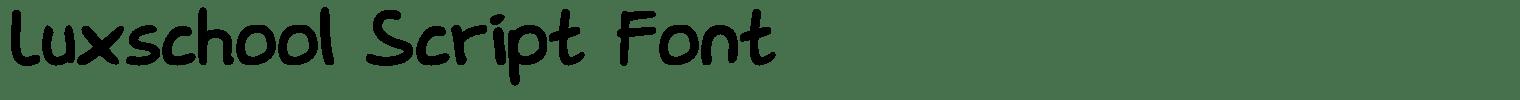 Luxschool Script Font