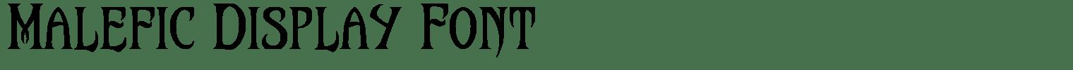 Malefic Display Font