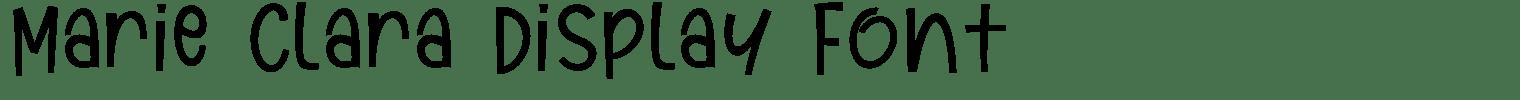 Marie Clara Display Font