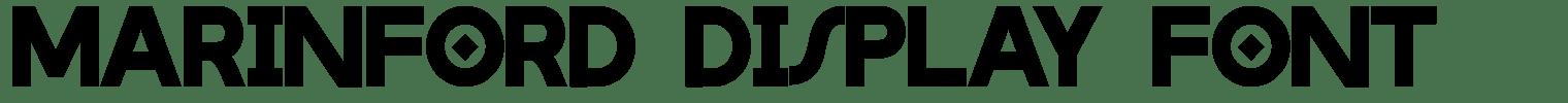 Marinford Display Font