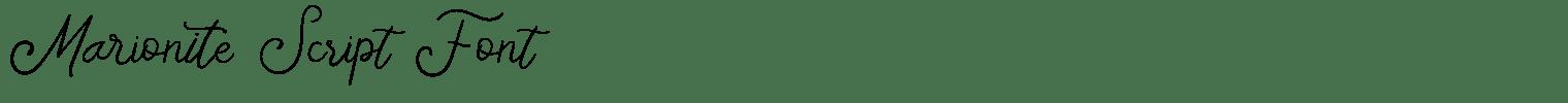 Marionite Script Font