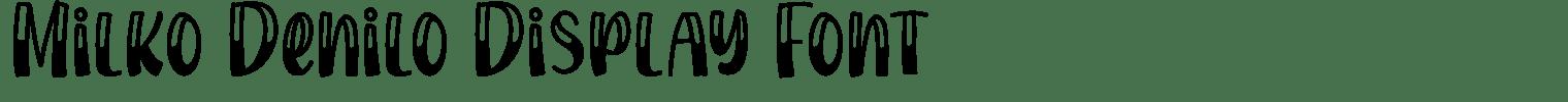 Milko Denilo Display Font