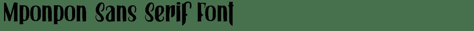 Mponpon Sans Serif Font