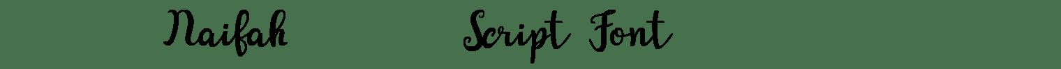 Naifah Script Font