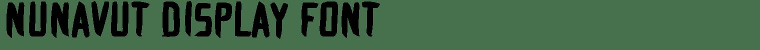 Nunavut Display Font