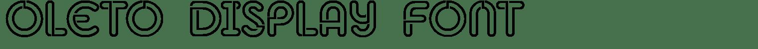 Oleto Display Font