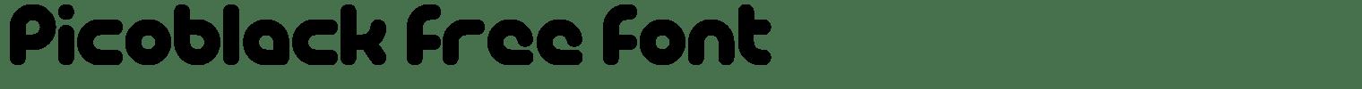 PicoBlack Free Font