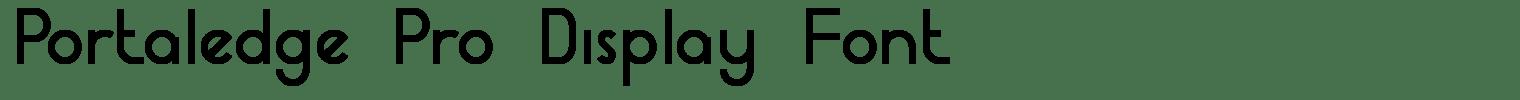Portaledge Pro Display Font