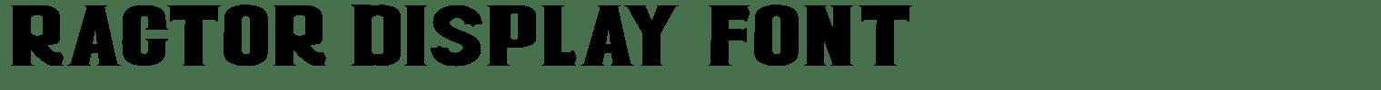 Ractor Display Font