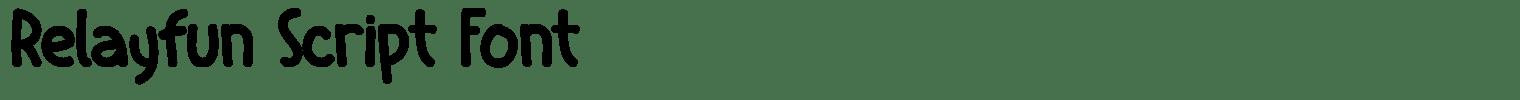 Relayfun Script Font