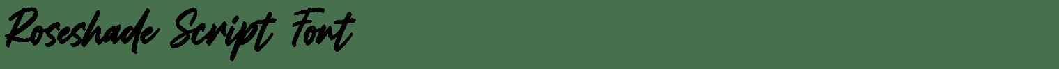 Roseshade Script Font
