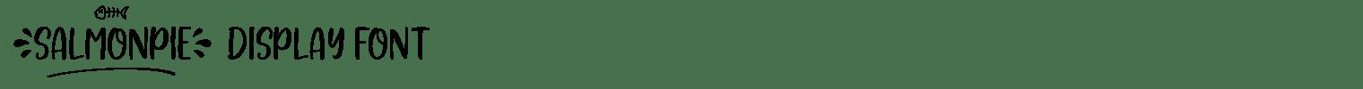 Salmonpie Display Font