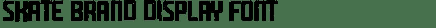 Skate Brand Display Font