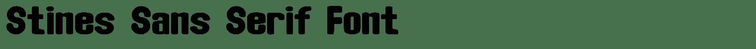 Stines Sans Serif Font
