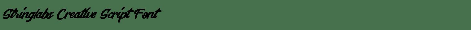 Stringlabs Creative Script Font