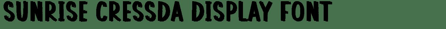 Sunrise Cressda Display Font