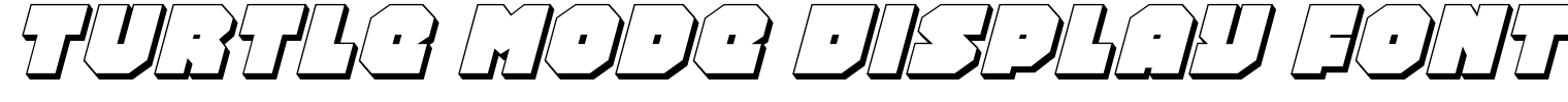 Turtle Mode Display Font