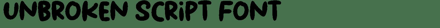 Unbroken Script Font