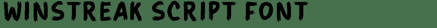 Winstreak Script Font