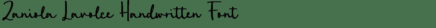 Zaniola Lavolce Handwritten Font