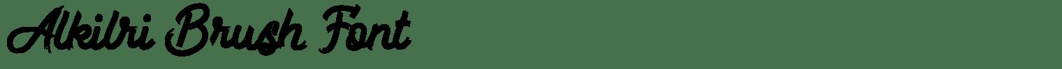 Alkilri Brush Font