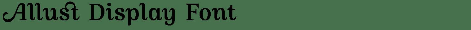Allust Display Font