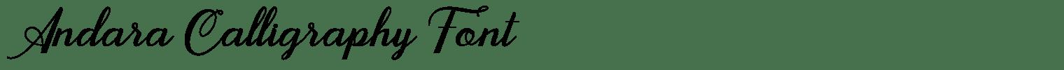 Andara Calligraphy Font