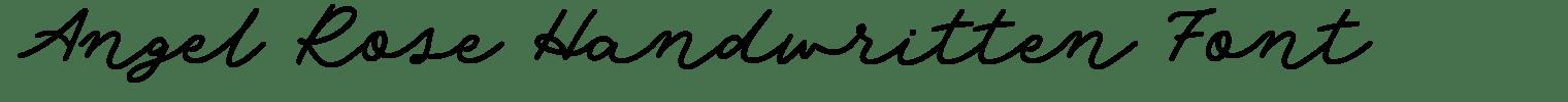 Angel Rose Handwritten Font
