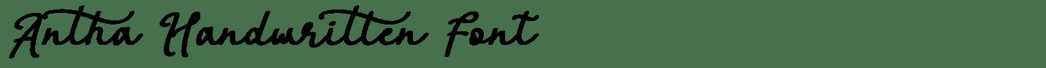 Antha Handwritten Font