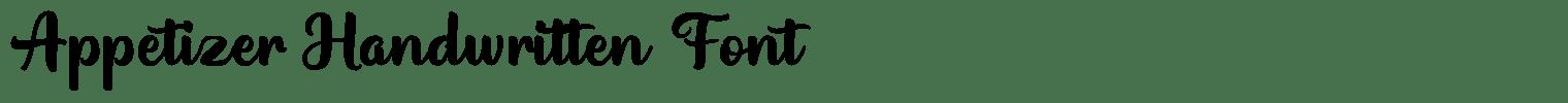 Appetizer Handwritten Font