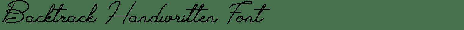 Backtrack Handwritten Font