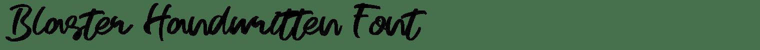 Blaster Handwritten Font