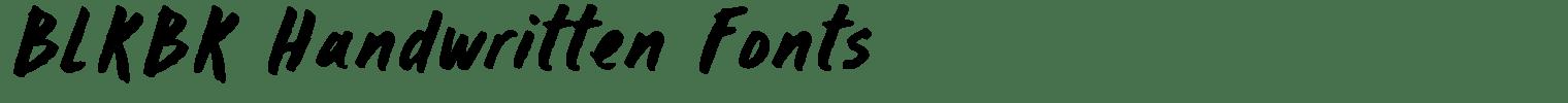 BLKBK Handwritten Fonts