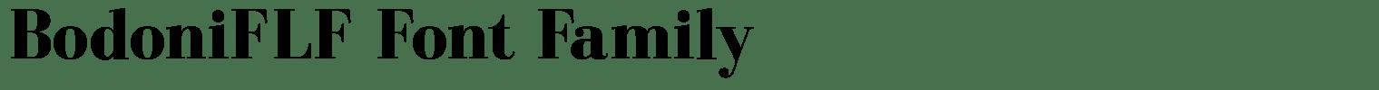 BodoniFLF Font Family