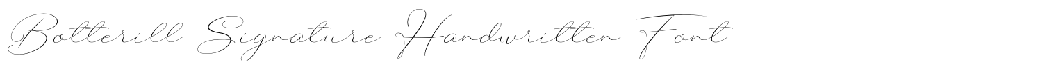 Botterill Signature Handwritten Font