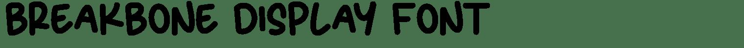 BREAKBONE Display Font