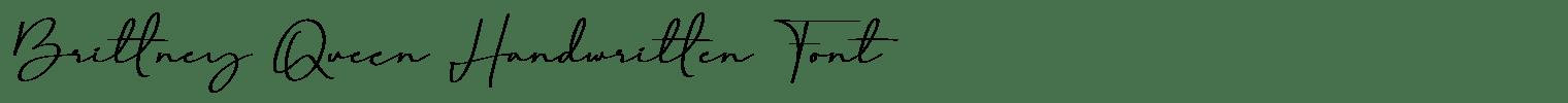 Brittney Queen Handwritten Font