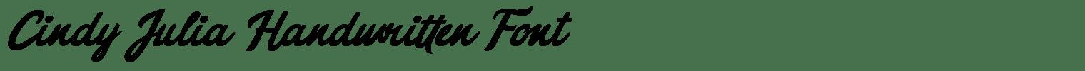 Cindy Julia Handwritten Font