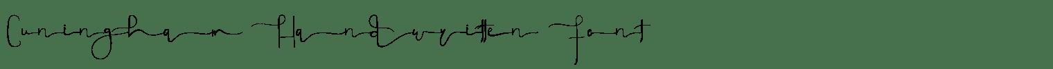 Cuningham Handwritten Font