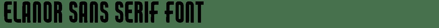 Elanor Sans Serif Font