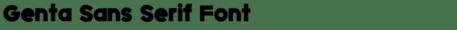 Genta Sans Serif Font