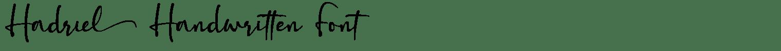 Hadriel Handwritten Font