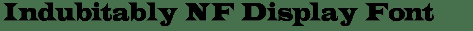 Indubitably NF Display Font