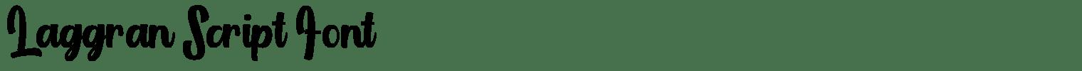 Laggran Script Font
