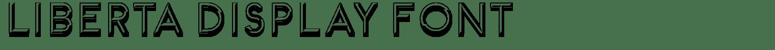 Liberta Display Font